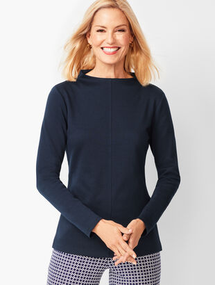 Mockneck Cotton Top