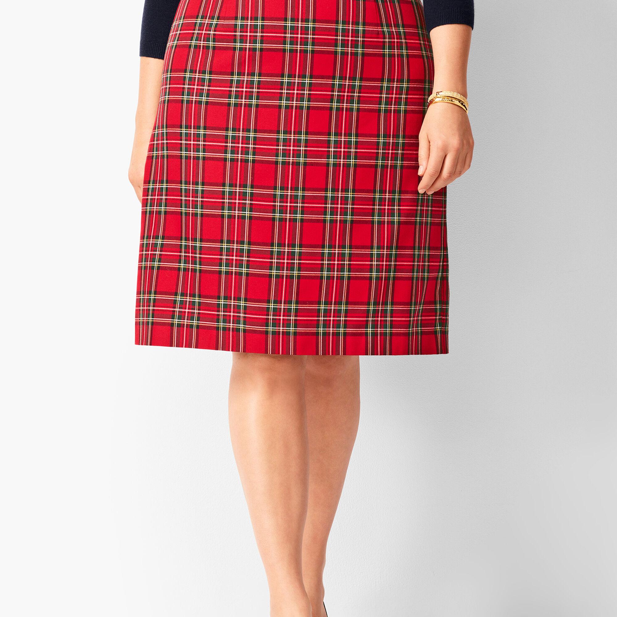 99eda4348e474 Tartan Plaid A-Line Skirt