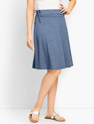 French Terry Side-Tie Skirt
