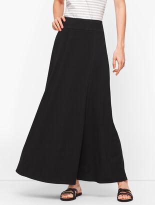 Jersey Wrap Maxi Skirt