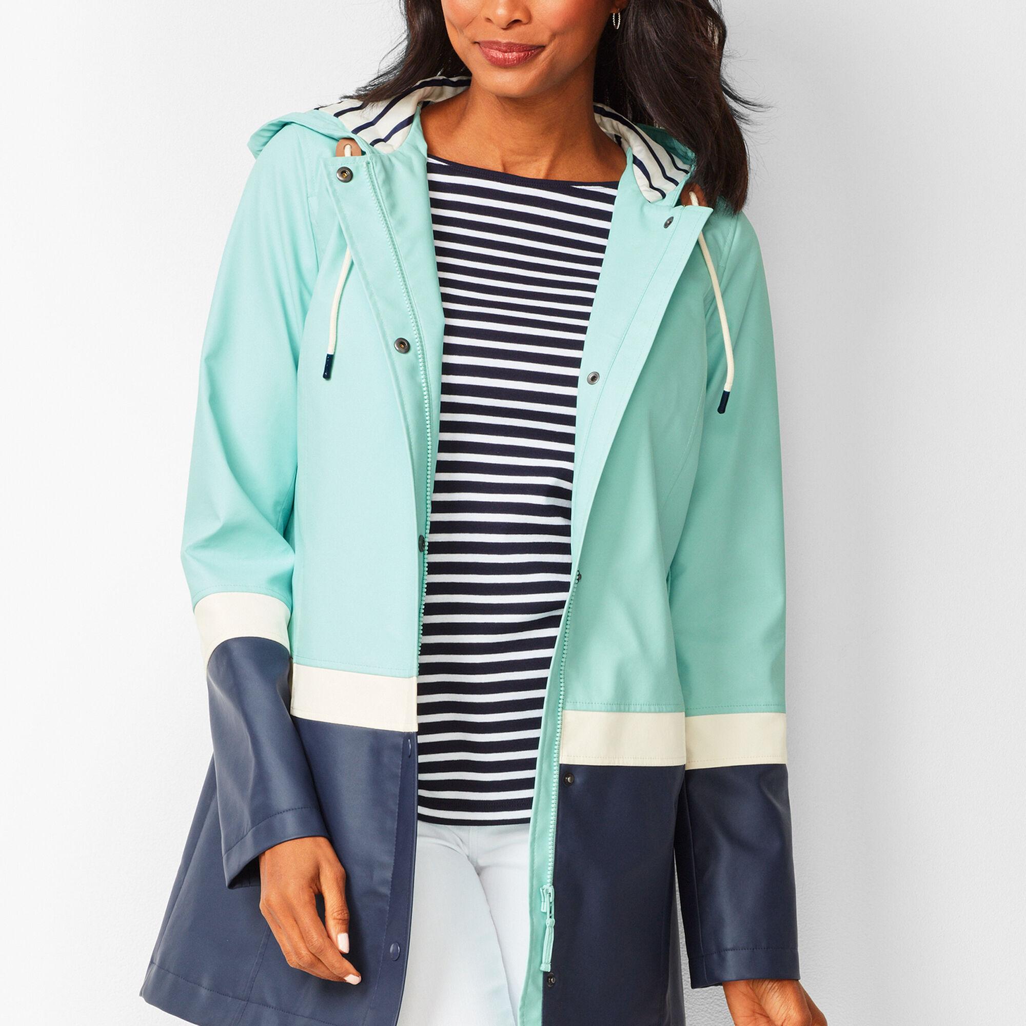 f499ae9468b1 Colorblock Hooded Raincoat