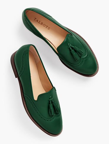 Leighton Tasseled Nappa Leather Brogue Loafers