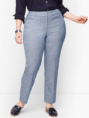 Plus Size Talbots Hampshire Ankle Pants - Curvy Fit - Sharkskin