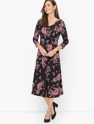 Jersey Midi Dress - Gorgeous Paisley