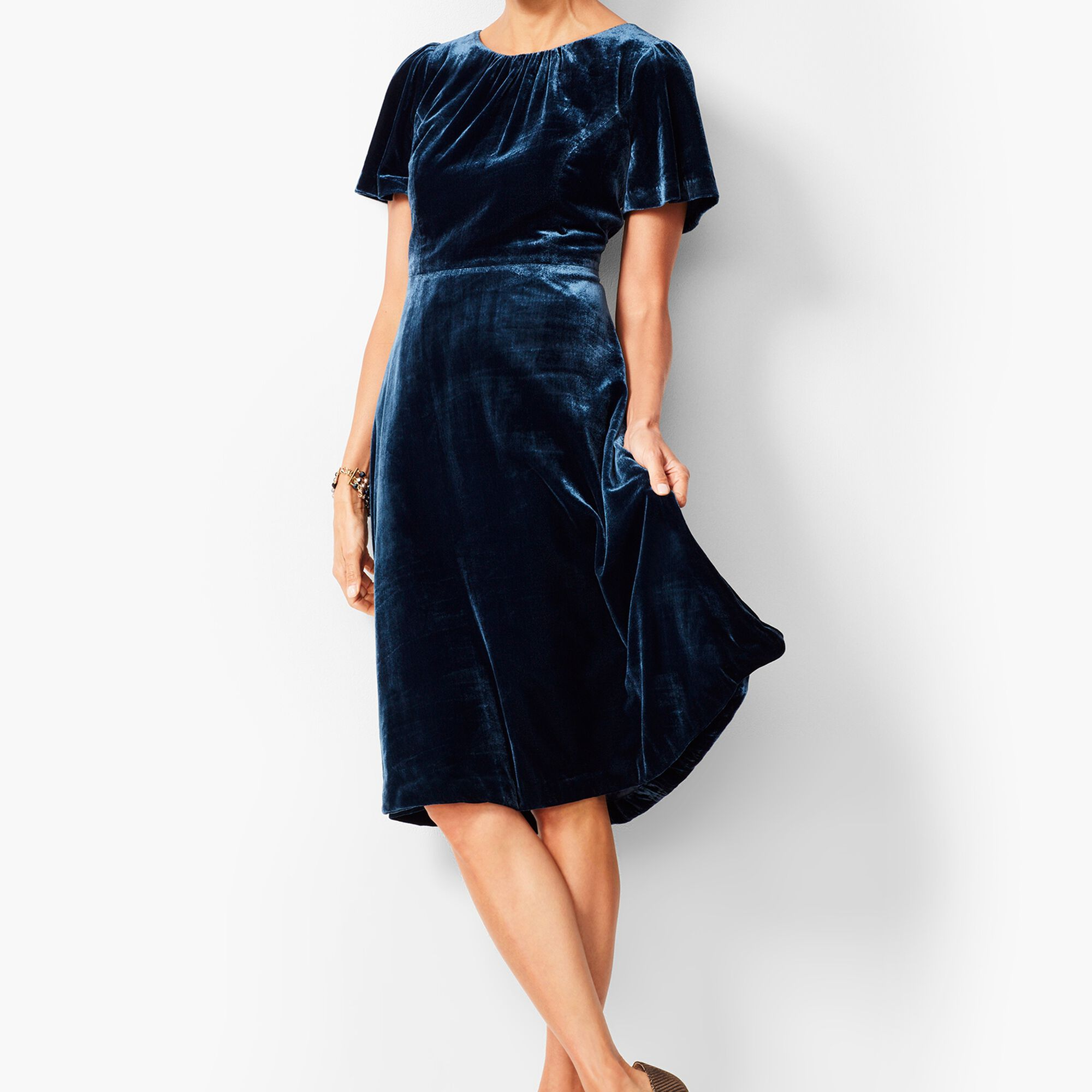 b1b4dfd04f0 Velvet Fit And Flare Dress - Dress Foto and Picture