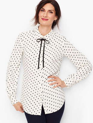 Pearl Button Dot Shirt