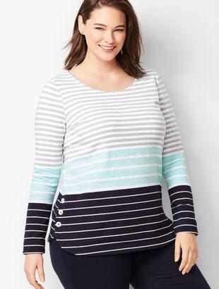 Tri-Color Stripe Top