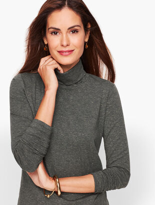 Long Sleeve Turtleneck Tee - Dark Grey Heather