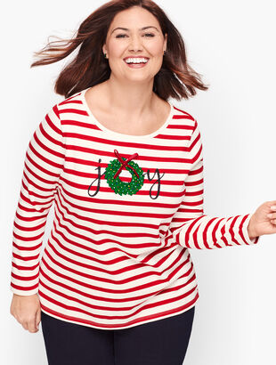 Embellished Joy Wreath Tee