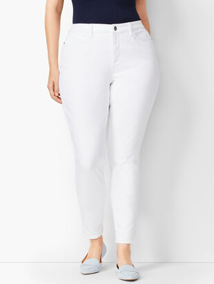 Denim Jeggings - Curvy Fit - White