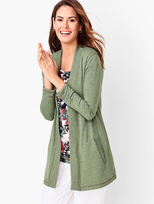 Heathered Terry Cardigan
