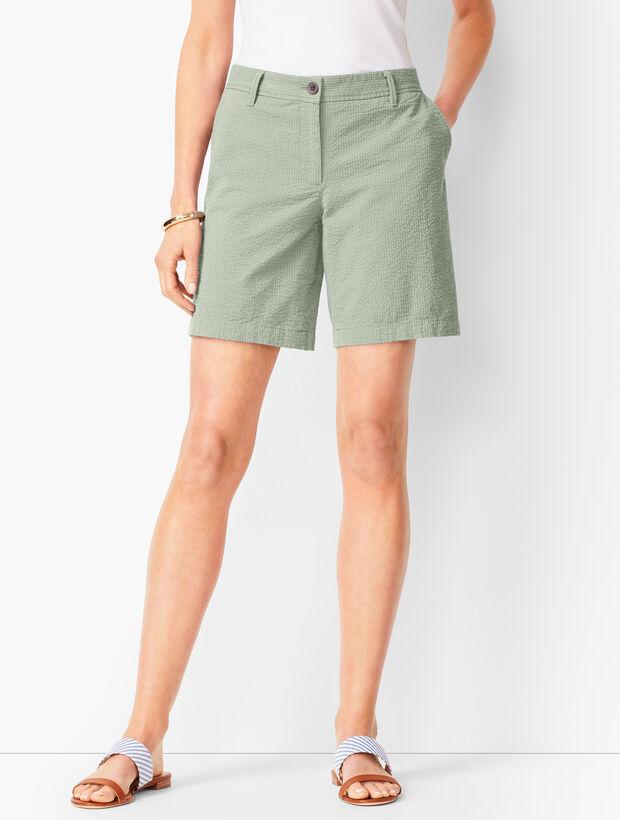 Girlfriend Chino Shorts - Yarn-Dyed Seersucker