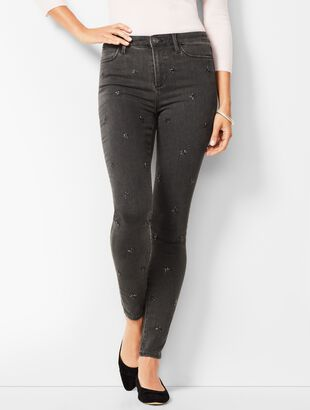 Denim Jegging - Snowflake-Embellished