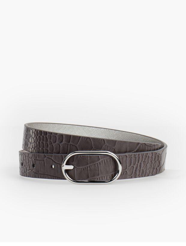 Reversible Belt - Saffiano Leather/Metallic