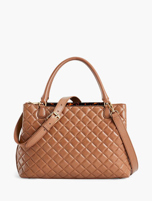 Quilted Nappa Leather Tote Bag