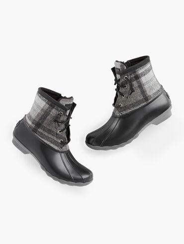 Sperry® Saltwater All Weather Boots - Wool Plaid