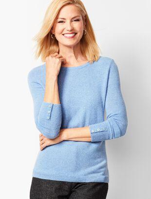Cashmere Crewneck Sweater - Marled
