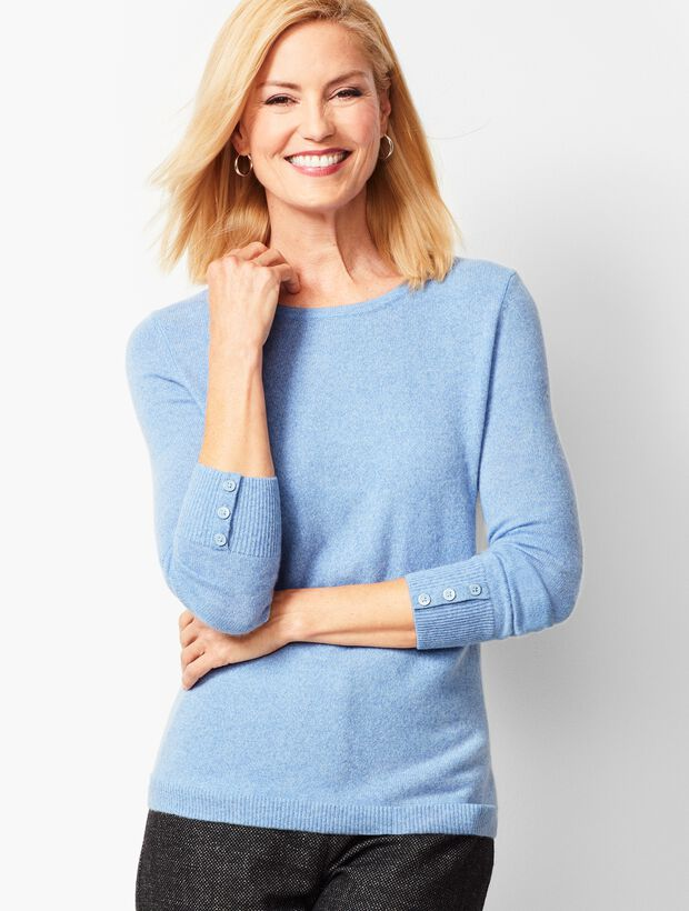 Cashmere Crewneck Sweater - Marled