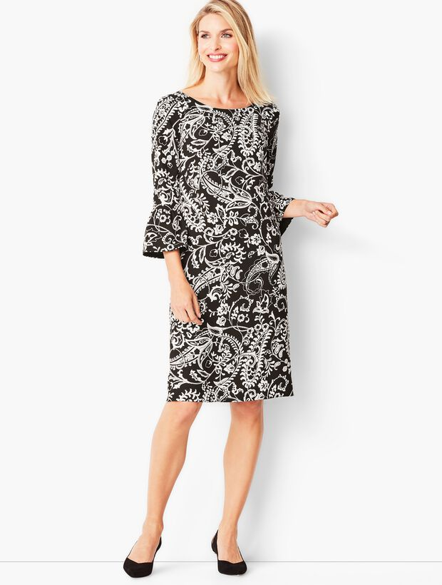 Crepe Shift Dress - Paisley