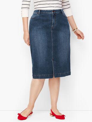 Denim Pencil Skirt - Taylor Wash