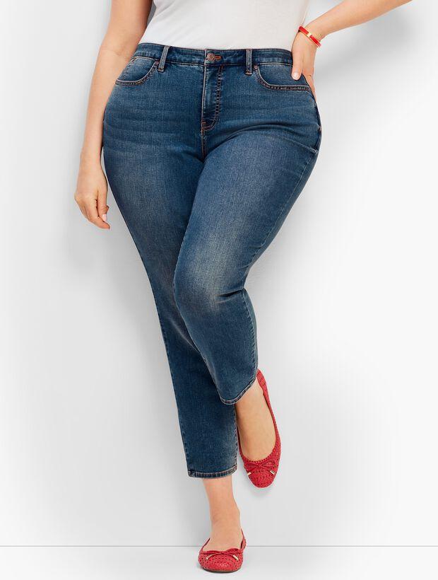 c7c5f801f07 Plus Size Denim Slim Ankle Jean - Baxter Wash - Curvy Fit