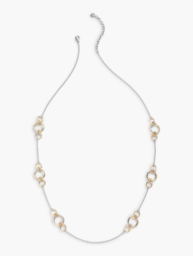 Interlocking Rings Layering Necklace