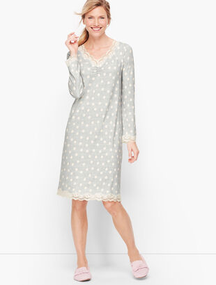 Jersey Sleep Shirt - Confetti Dot