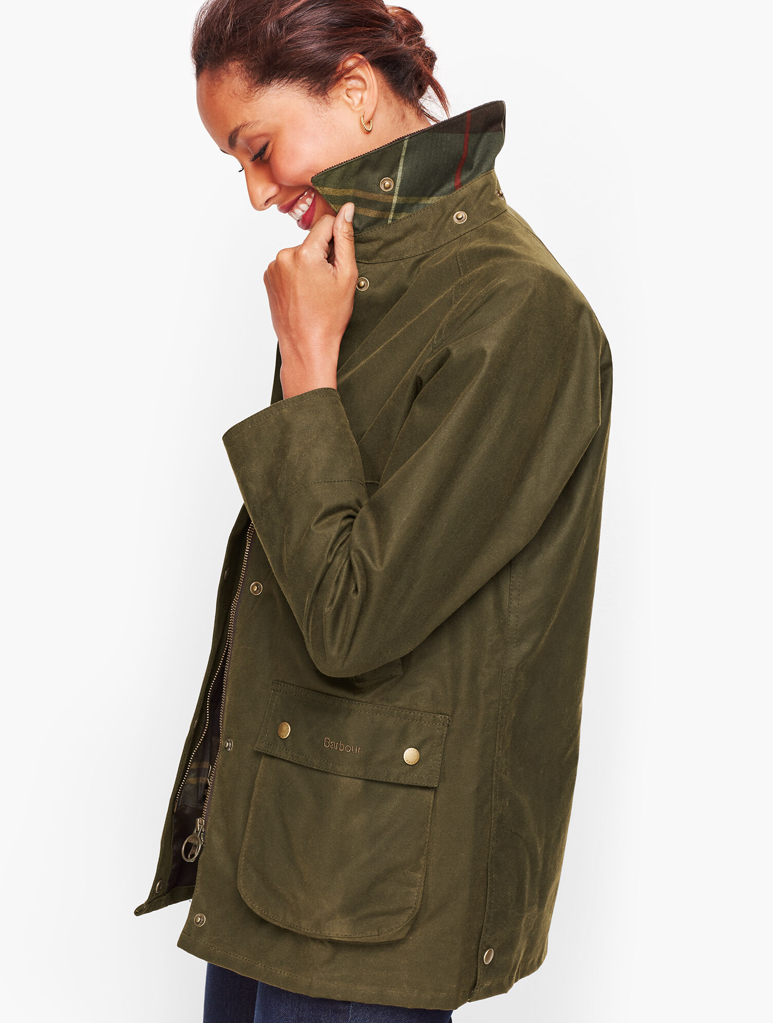 barbour acorn waxed jacket