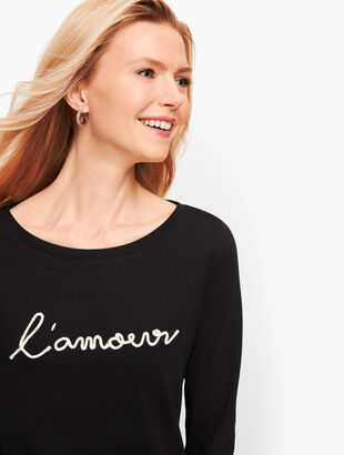 'L'Amour' Cotton Tee