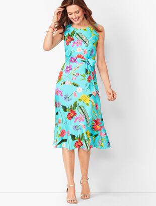Floral Soft Fit & Flare Dress