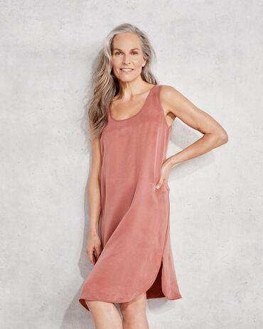 Natural Luxe Short Sleep Dress