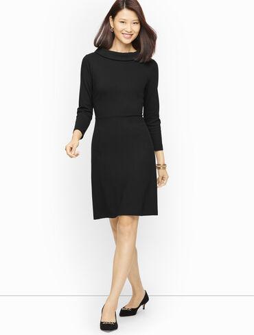 Audrey Refined Ponte Knit A-Line Dress