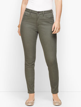 Denim Jeggings - Muted Olive - Curvy Fit