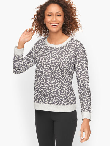 Classic French Terry Sweatshirt - Abstract Cheetah