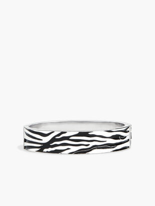 Zebra Enamel Bangle