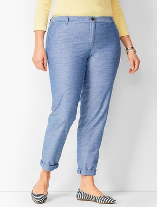 Girlfriend Chinos - Chambray - Curvy Fit