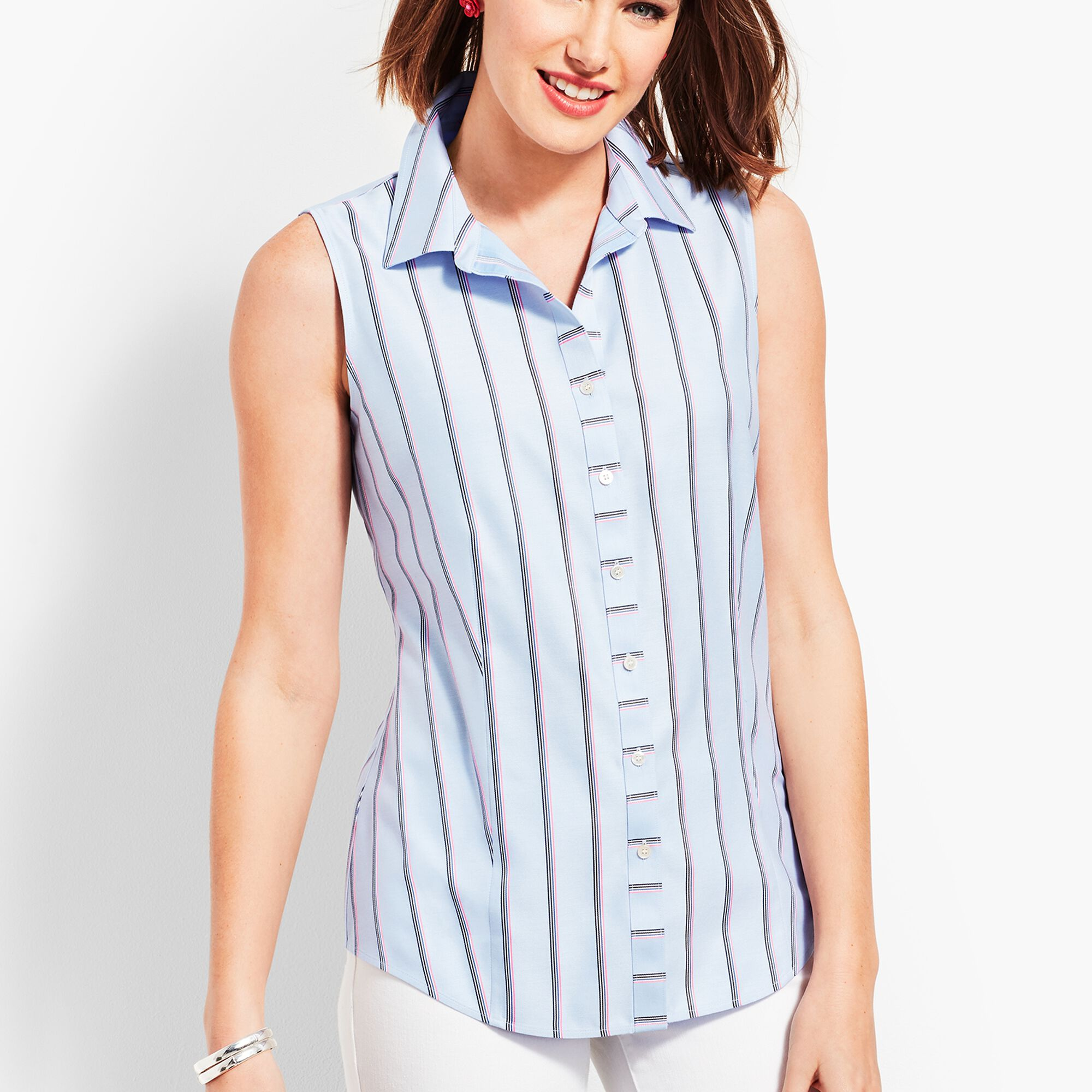 9cfd048fd135 Images. The Classic Sleeveless Button Front Shirt ...