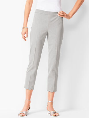 Talbots Chatham Scallop - Hem Crops - Greystone Heather