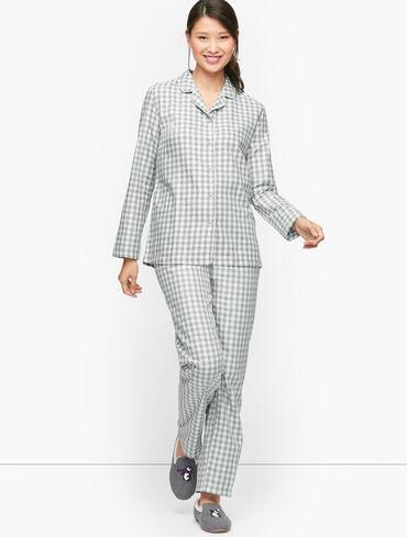 Cotton Flannel Sleep Set - Soft Gingham