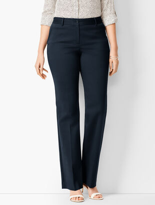 Cotton Bi-Stretch Barely Boot Pants - Curvy Fit