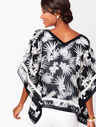 Plus Size Botanical V-Neck Poncho