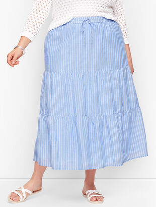 Tiered Maxi Skirt - Stripe