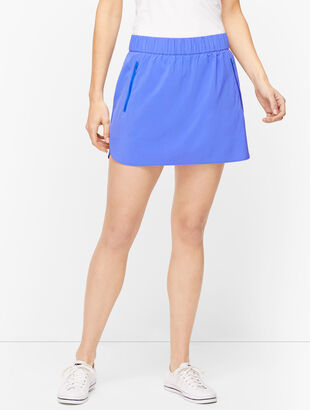 Mixed Fabric Active Skort