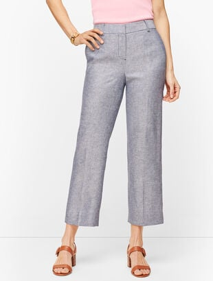 Linen Straight Leg Crop - Curvy Fit - Twill