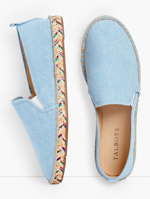 Izzy Espadrille Flats - Chambray