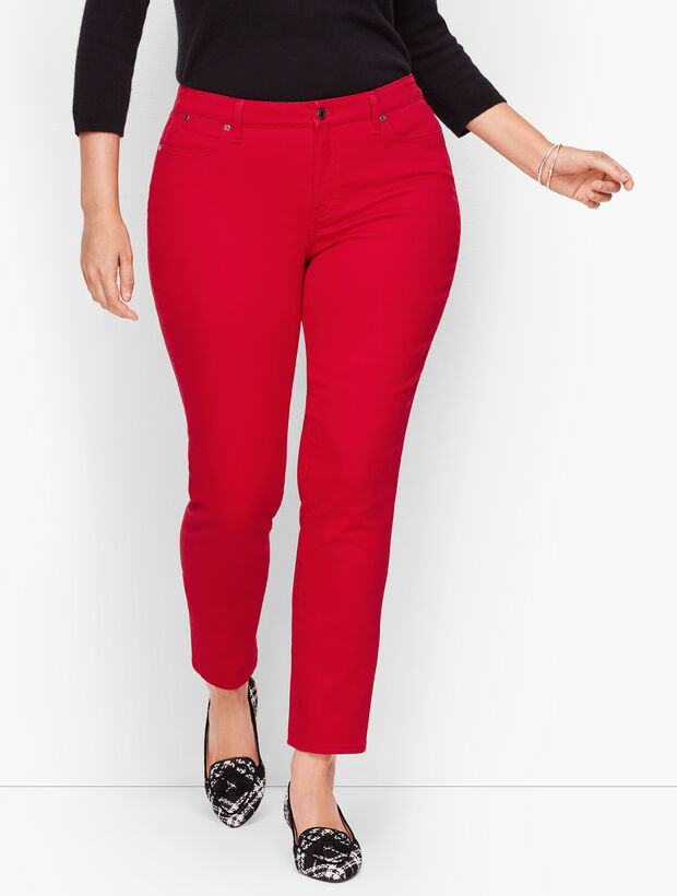 Slim Ankle Jeans - Classic Red
