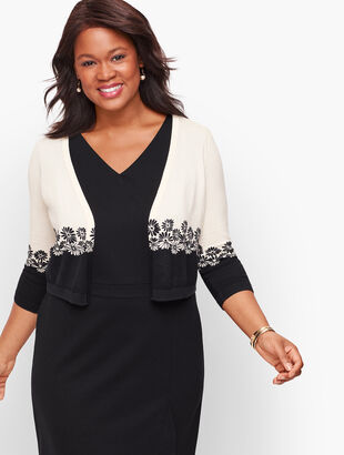 Plus Size Colorblock Dress Shrug