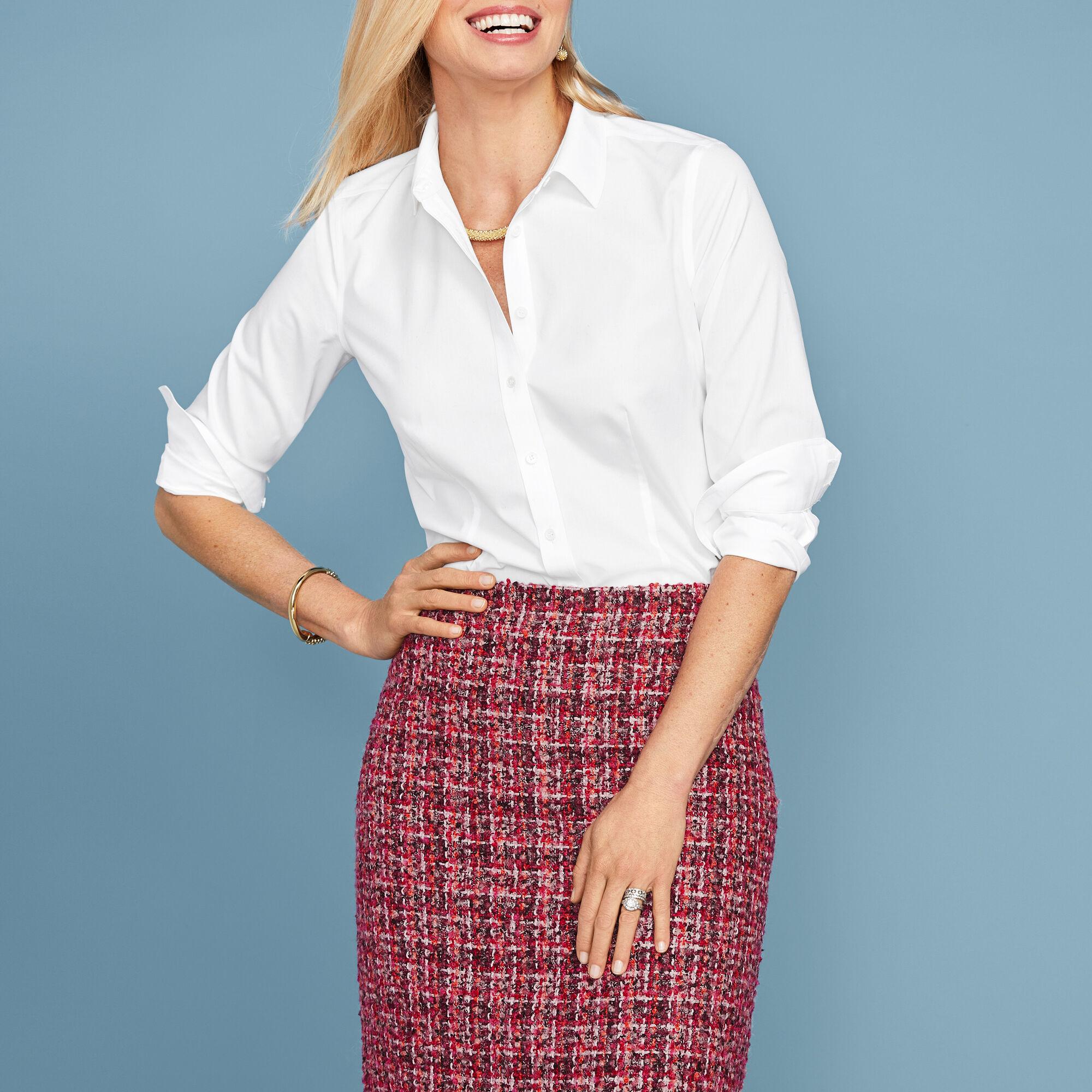 3a2655b7d2d Images. Tweed Fringe-Hem A-Line Skirt