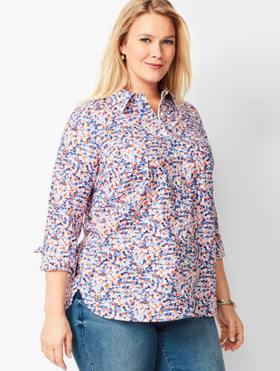 Classic Cotton Shirt - Tiny Floral