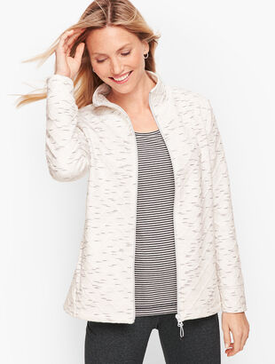 Fleece Lined Jacquard Jacket